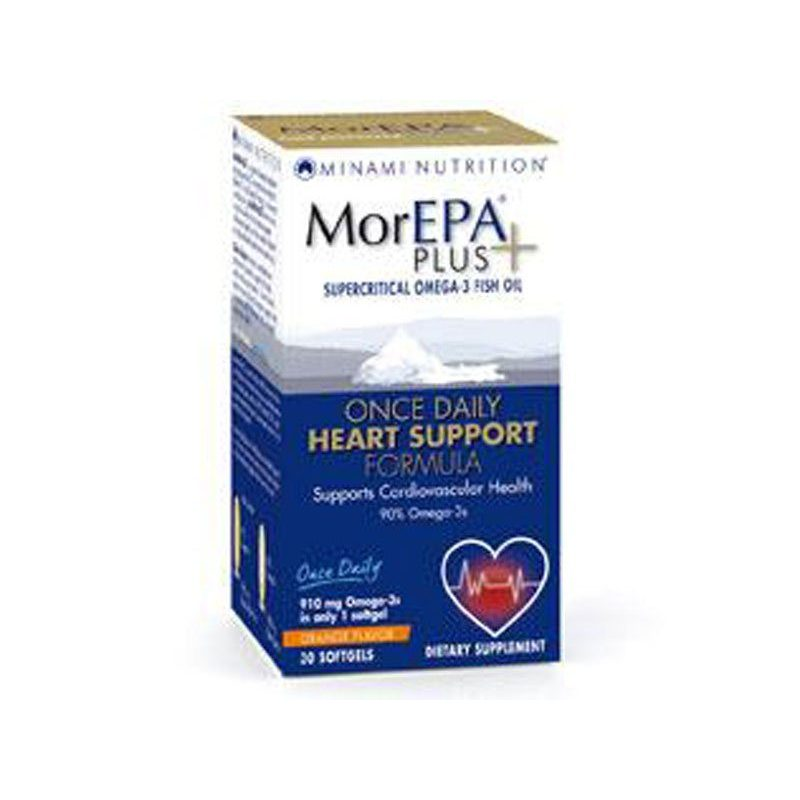 Am Health Minami Nutrition MorEpa Plus Supercritical Omega-3 Fish Oil Heart Support 30softgels Orang