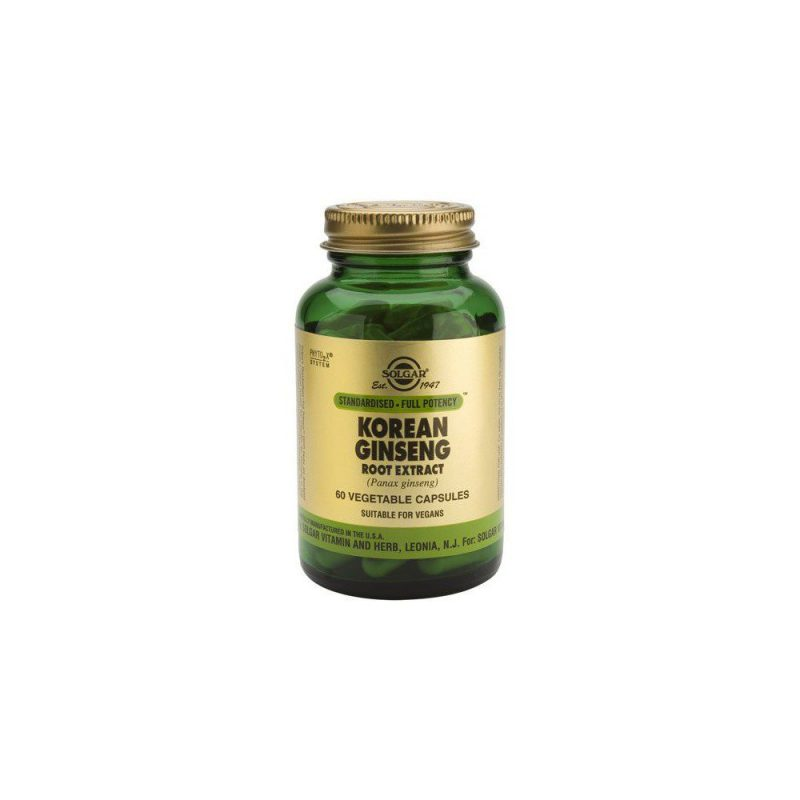 Solgar Sfp Korean Ginseng Root Extract 60 φυτικές κάψουλες