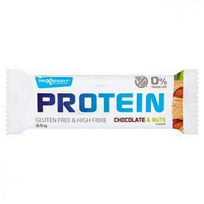 MAX SPORT Max Sport Protein Chocolate and Nuts Gluten Free 60gr (Συμβατικό)