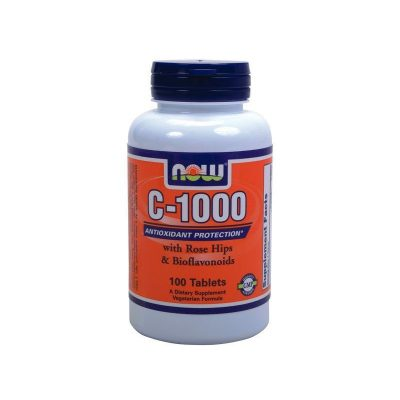 NOW Now Vitamin C-1000w/Rose Hips & Bioflavonoids 100tabs