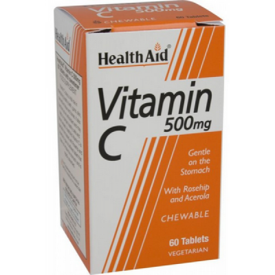 Health Aid Health Aid VITAMIN C 500mg 60 Chewable tabs