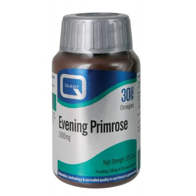 Quest Quest EVENING PRIMROSE OIL 1000mg (10% GLA) plus natural vitamin E 30 caps