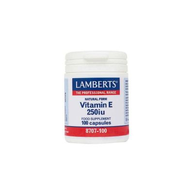 Lamberts Lamberts Vitamin E 250 Iu Natural Form (As D-Alpha Tocopherol) 100 κάψουλες