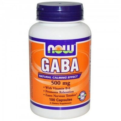 NOW Now Gaba +Vitamin B6 500mg 100 Veget.caps