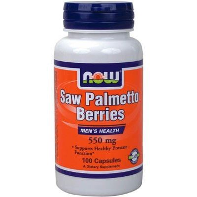 NOW Now Saw Palmetto Berries 550mg 100 caps