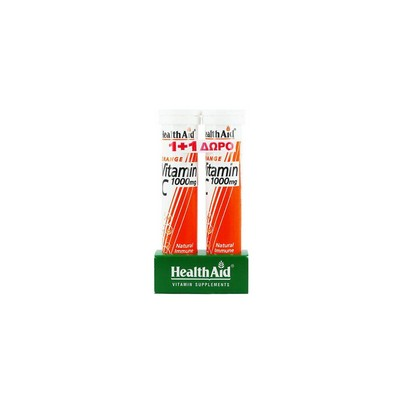 Health Aid HEALTH AID VITAMIN C 1000MG  1+1 ORANGE 20TABS