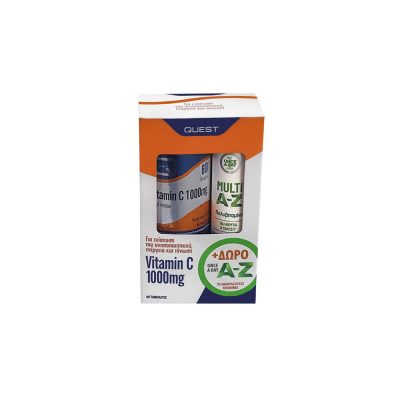 Quest Quest Promo Vitamin C 1000mg Timed Release Βιταμίνης C Βραδείας Αποδέσμευσης 60 ταμπλέτες + Multi A-