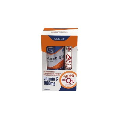 Quest Quest Promo Vitamin C 1000mg Timed Release Βιταμίνης C Βραδείας Αποδέσμευσης 60 ταμπλέτες + Q10 & Vi