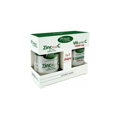 Power Health Power Health Promo Platinum Range Zinc Plus C 30 ταμπλέτες + Δώρο Platinum Range Vitamin C 1000mg 20