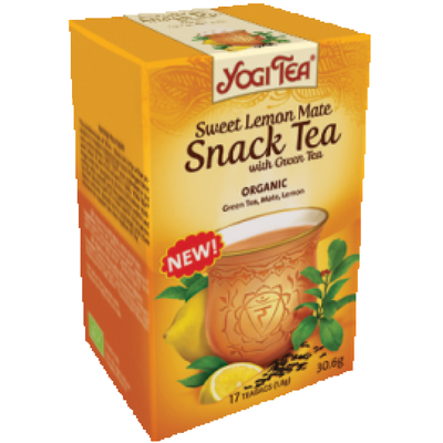 YogiTea Yogi Snack tea green-lemon mate 30gr